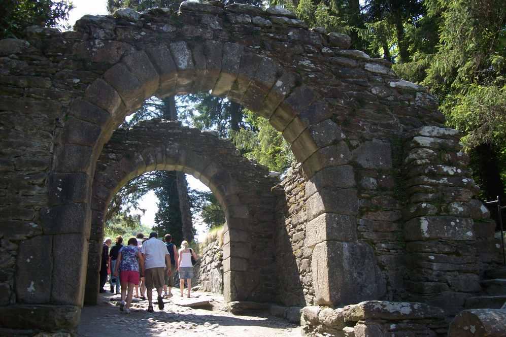 Archway entrance at Glendalough