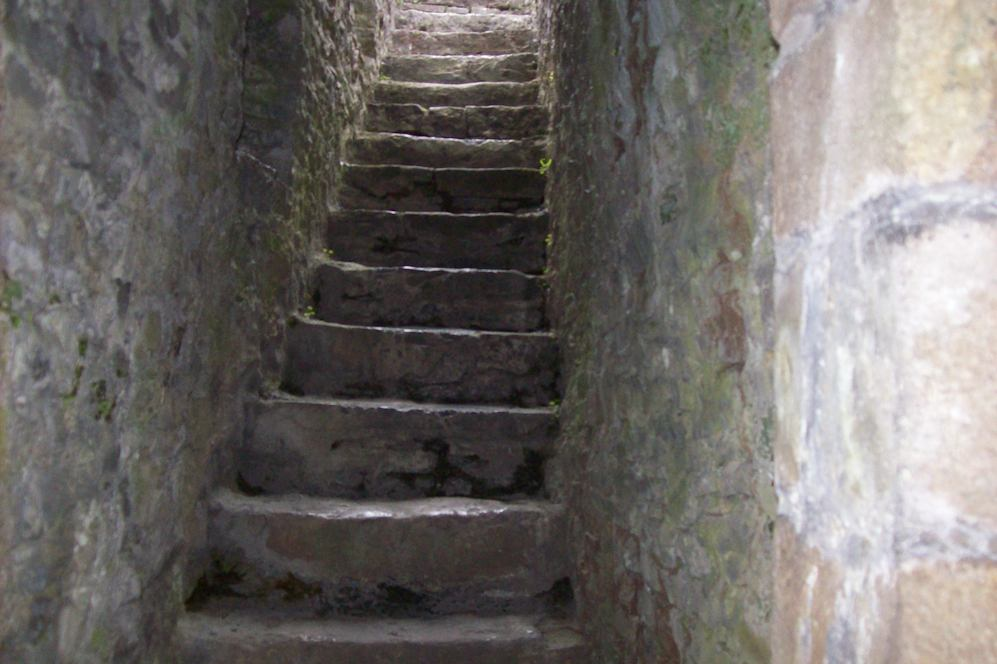Narrow Stair in a Castle