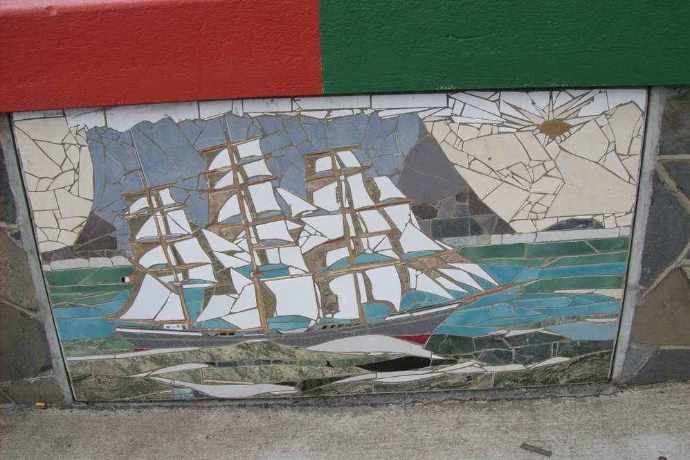 Mosaic of French Barque, Leon XIII before shipwreck