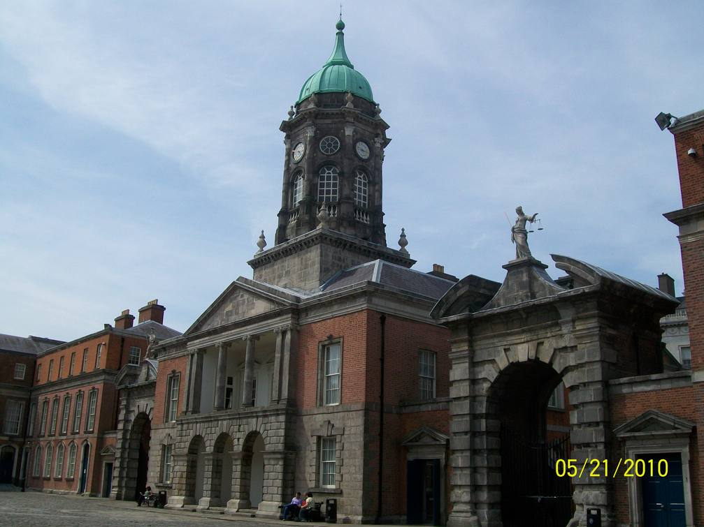 Clock tower at Dublin Castle