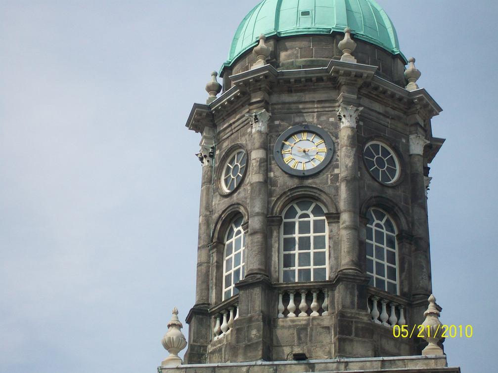 Clock tower at Dublin Castle