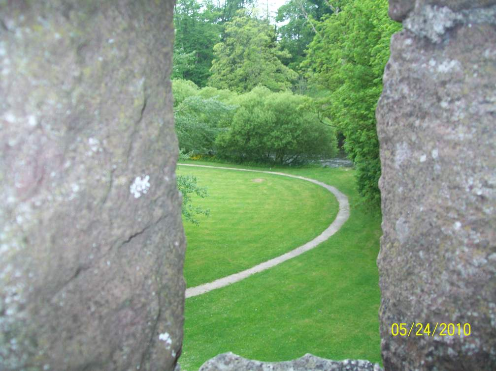 View through Crenellations at park