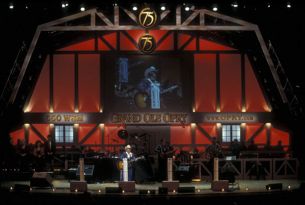Little Jimmy Dickens performance on the Grand Ole Opry in Nashville