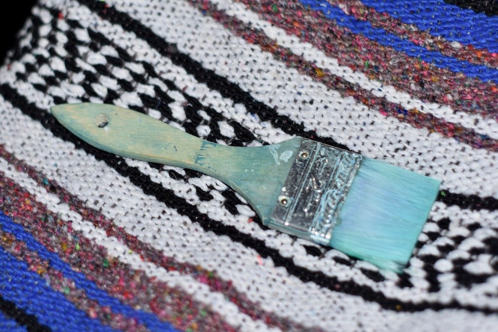 Paintbrush on Blanket