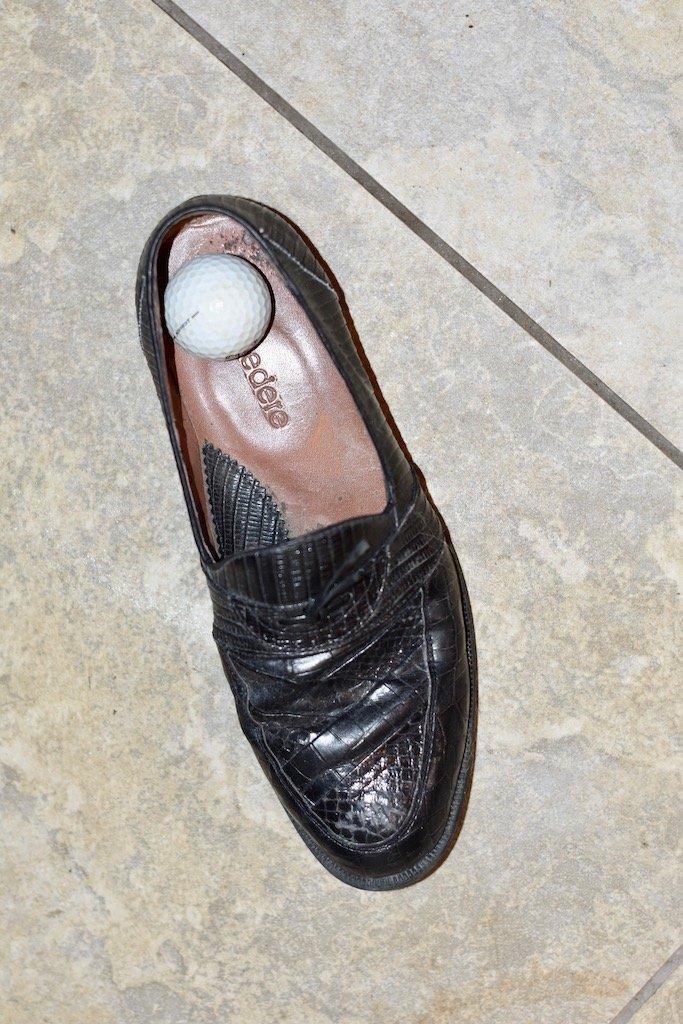 Golf Ball in Shoe