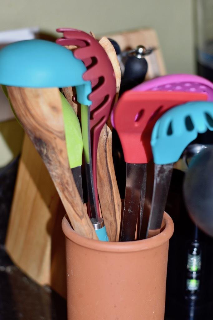 Jar with Cooking Utensils