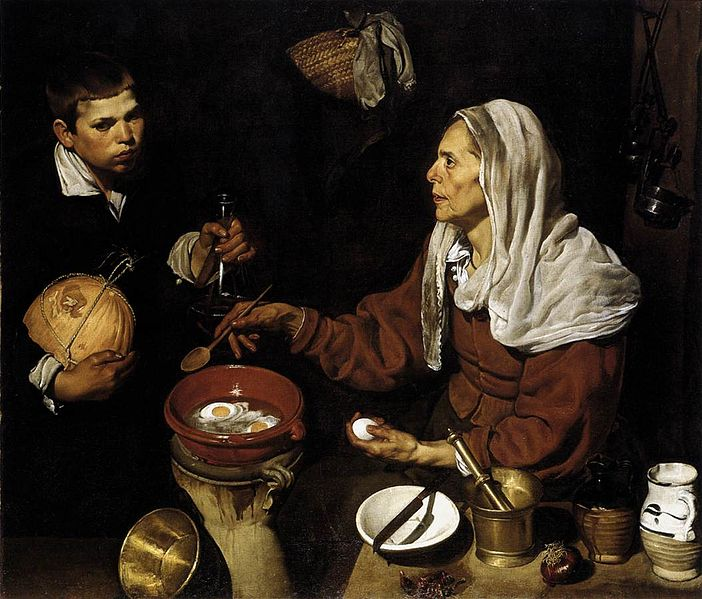 Old Woman Frying Eggs