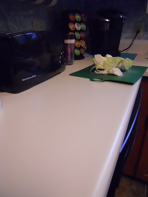 Counter with cabbage