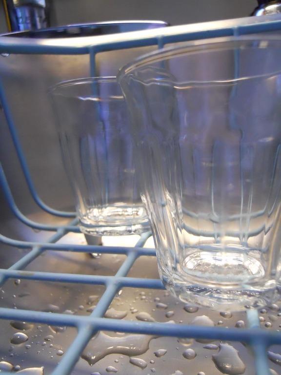 Glasses in sink