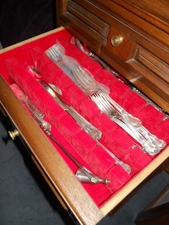 Drawer with Gorham cutlery