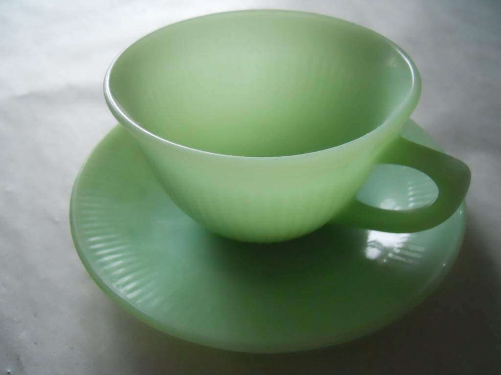 Jadeite cup by Anchor Hocking