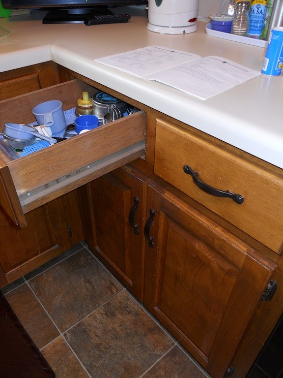 Kitchen drawer and counter