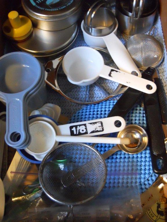 Kitchen drawer with utensils