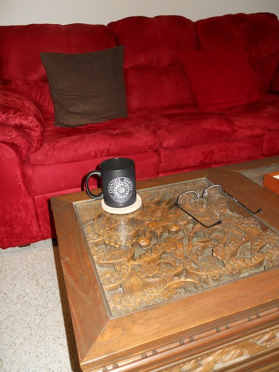 Coffee cup in living room