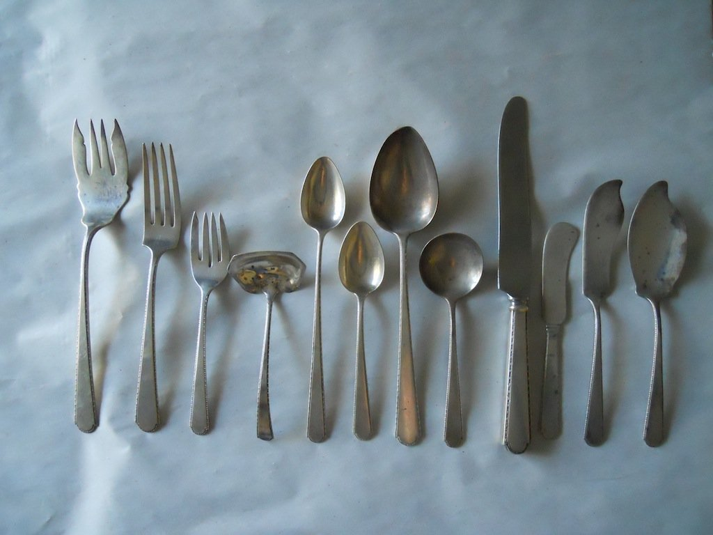Sterling silver cutlery set