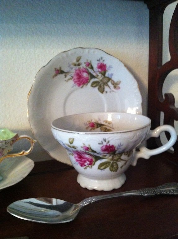 Teacup, saucer, and spoon