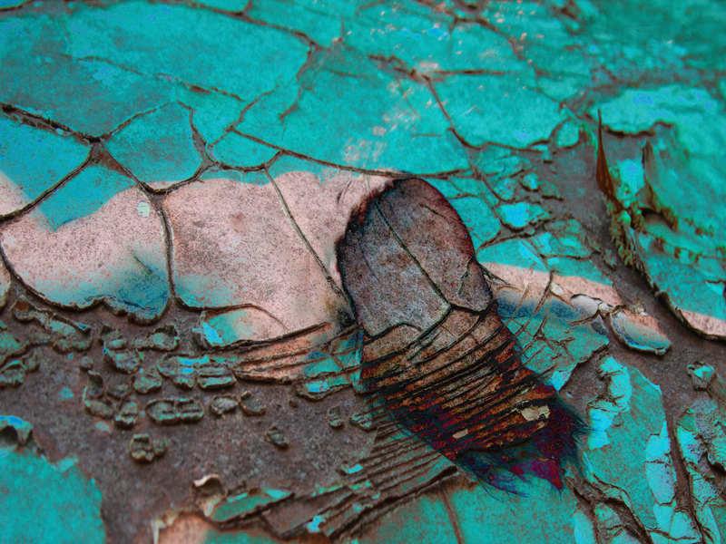 Shattered in Aqua Green
