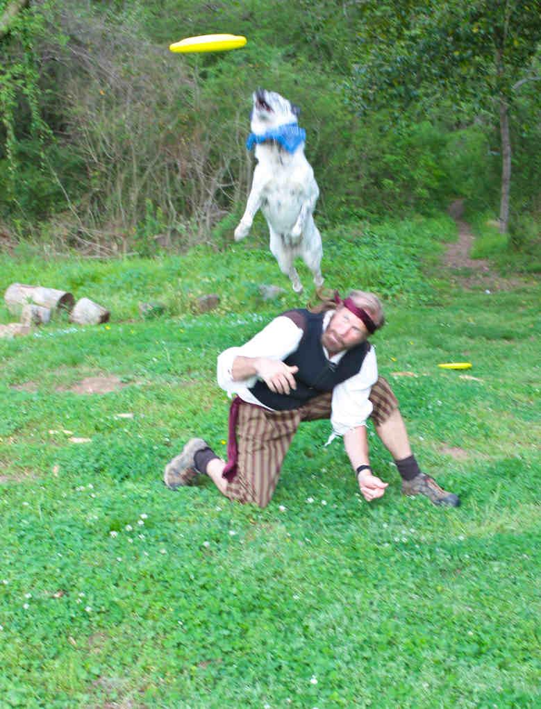 Frisbee Dog Nayla and Todd