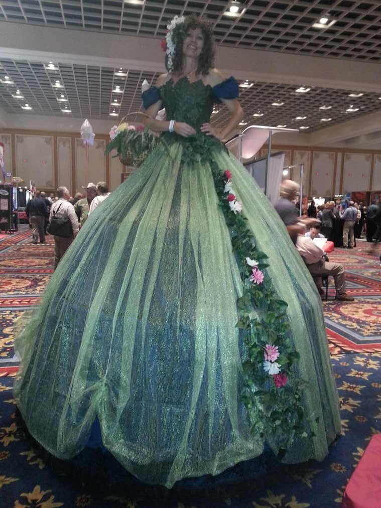Carrie in Vegas mother earth dress