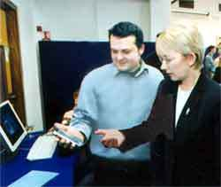 Marco Neumann Semantic Web enabled HP Compaq Device with Minister of State Mary Hanafin