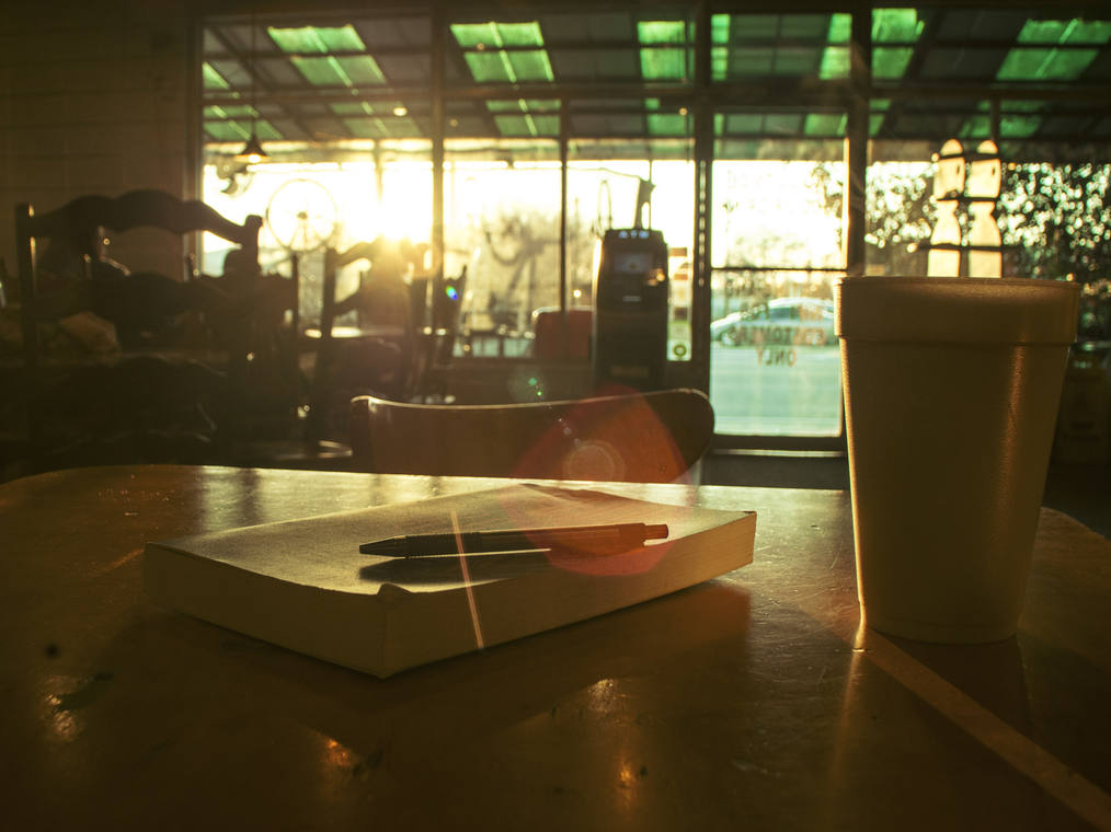 Coffee and a book.