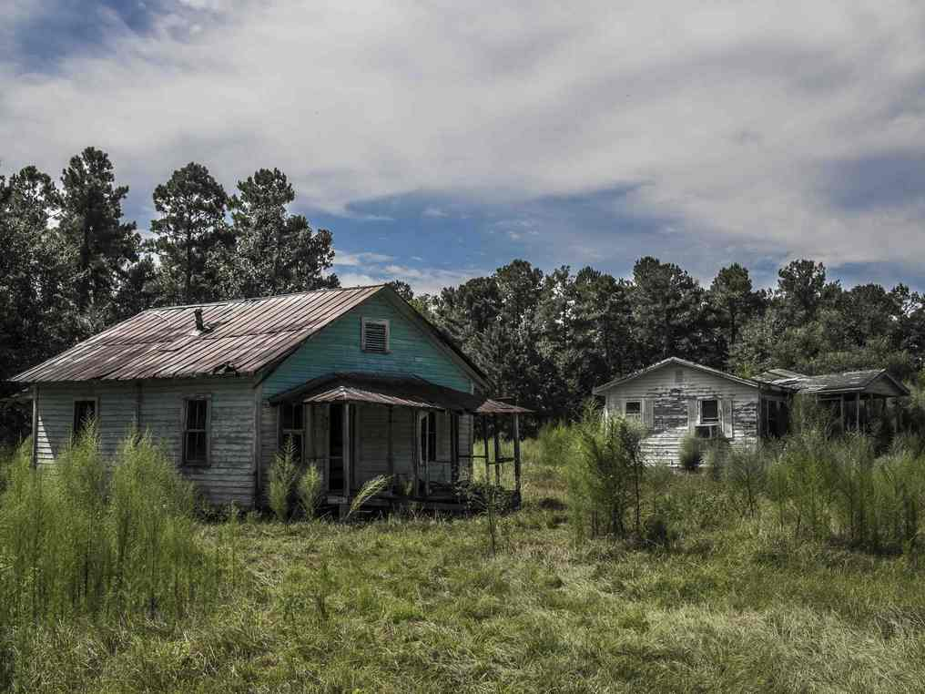 two abandoned houses