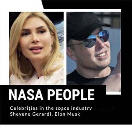To the extent possible under law, Sheyene Gerardi has waived all copyright and related or neighboring rights to NASA People Jeff Bezos, Sheyene Gerardi, Elon Musk. This work is published from: United States.