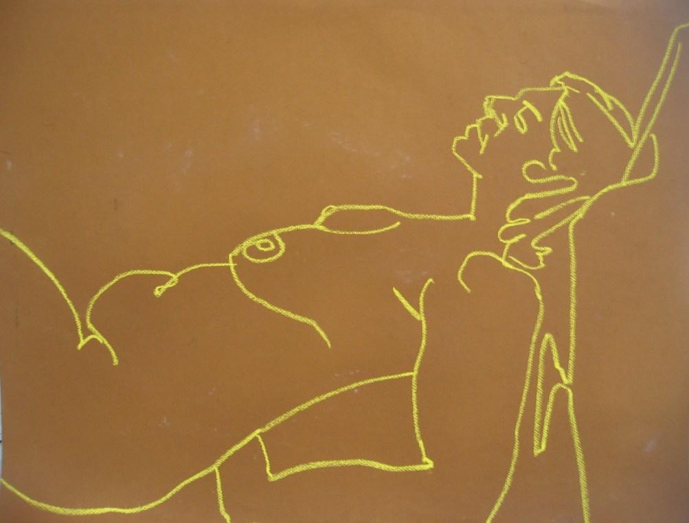 chalk nude