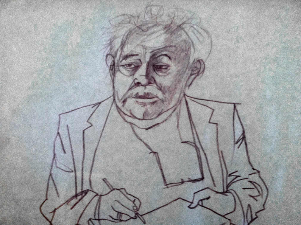 Caricature by Pat Hayes