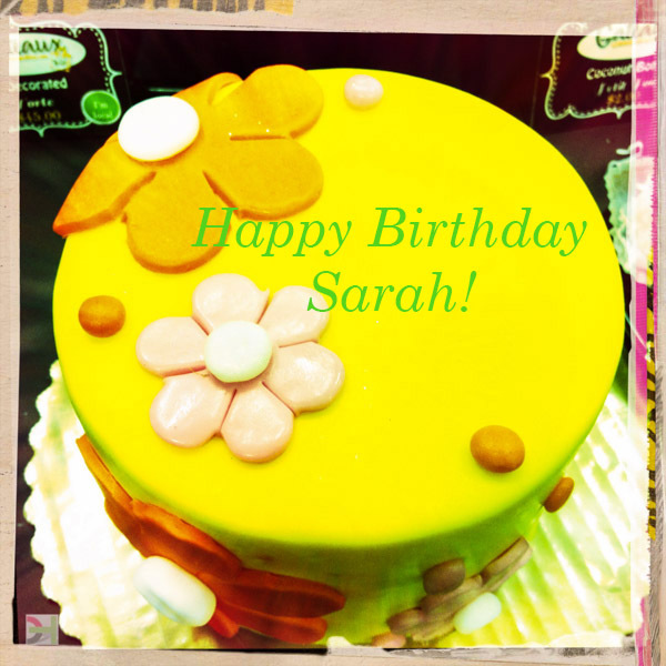 yellow cake with frosting flowers