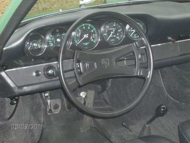 Dashboard of 1967 Porsche 911 S Soft Window Targa