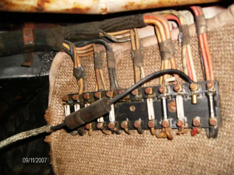 fuse panel from a 1951 Pre-A Coupe
