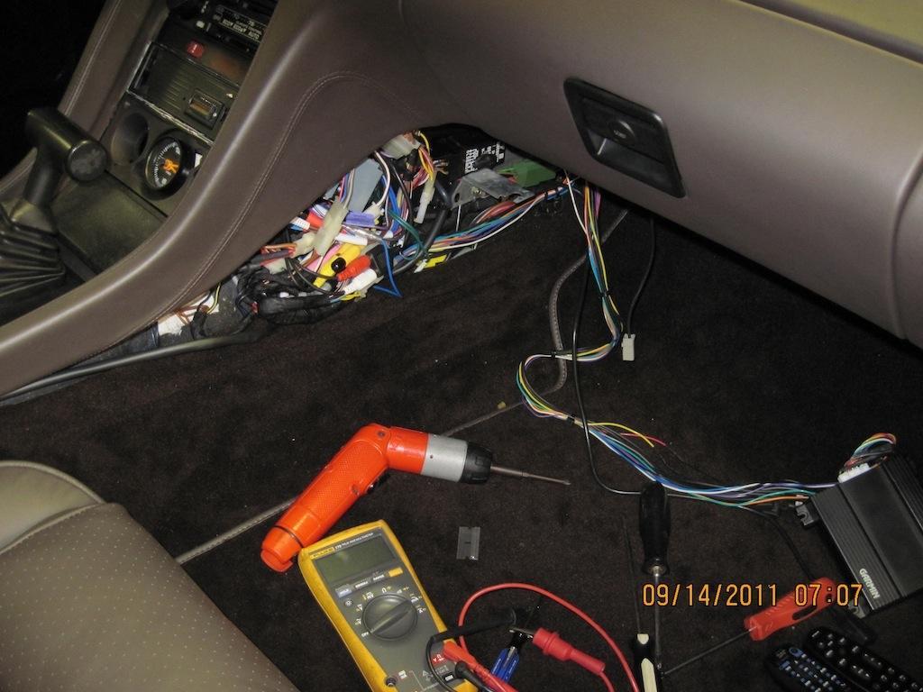 Interior car wiring
