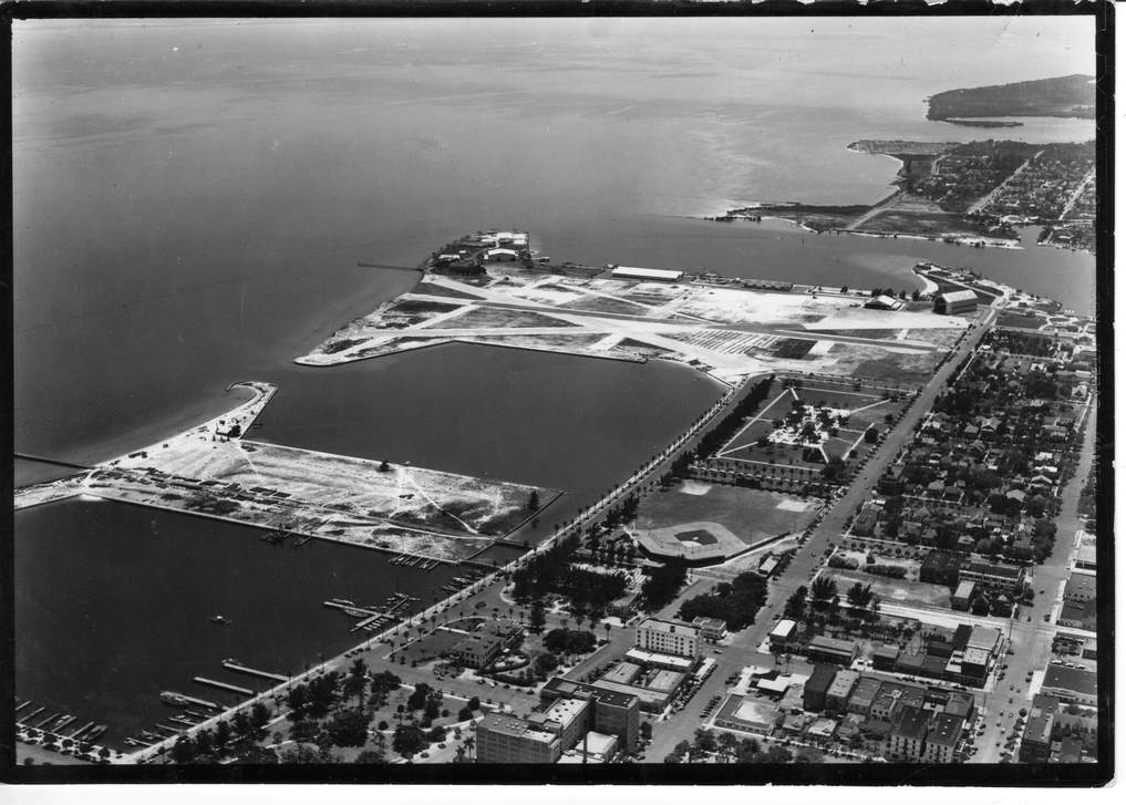 Aerial of Albert Whitted Airport and Waterfront