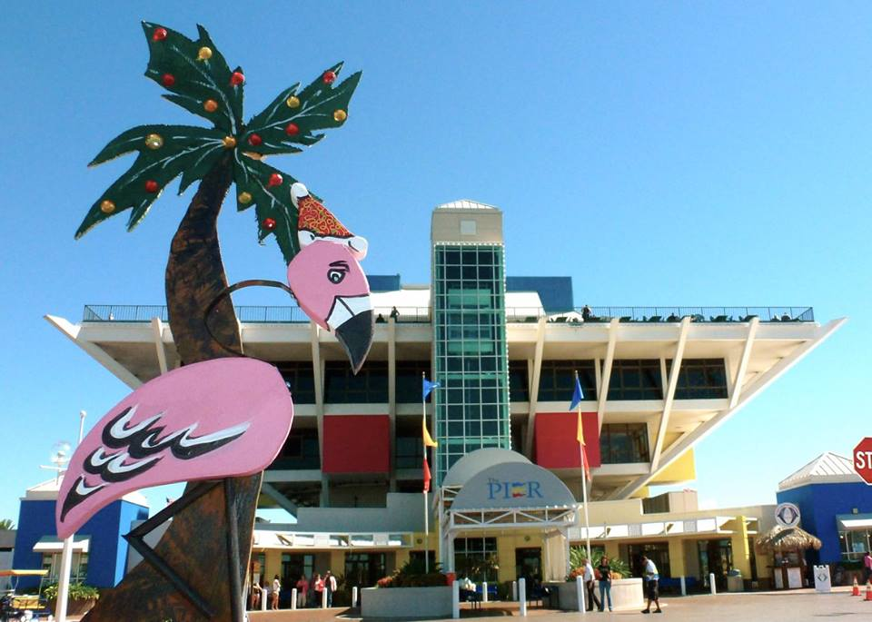 Pink Flamingo Welcoming visitors to The Pier