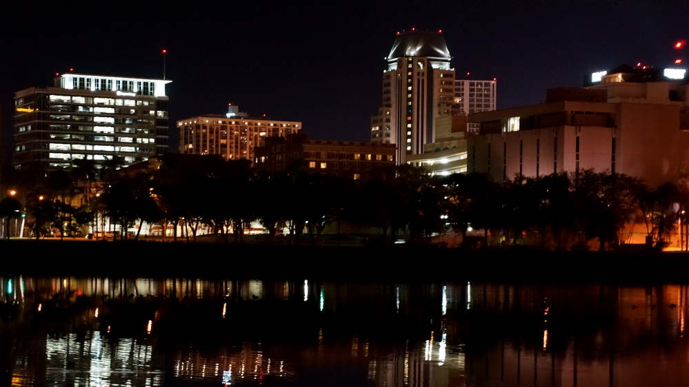 Saint Petersburg Florida Night Skyline