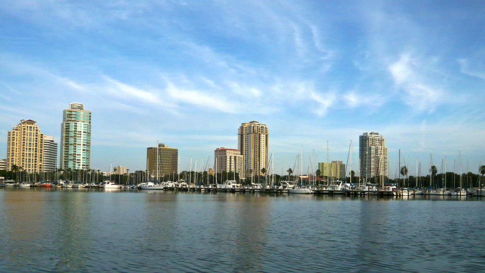 Saint Petersburg, Florida Skyline and Clouds