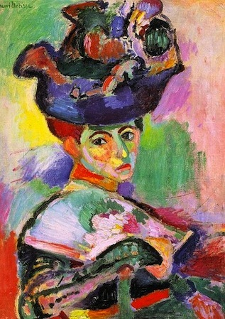 Woman with a hat painting
