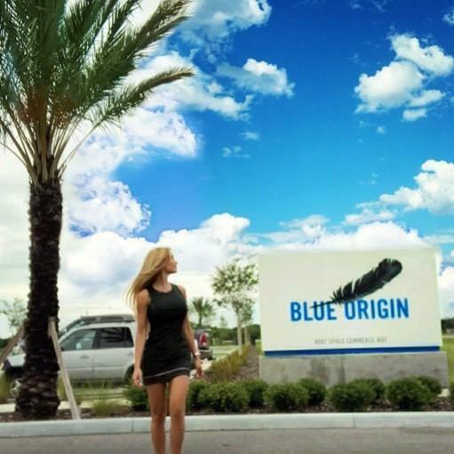 Sheyene Gerardi Blue Origin Jeff Bezos aerospace rocket company.