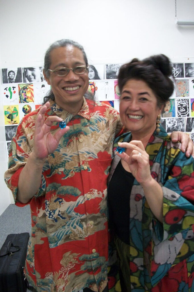 First Voice founders Mark Izu & Brenda Wong receive one blue marble.