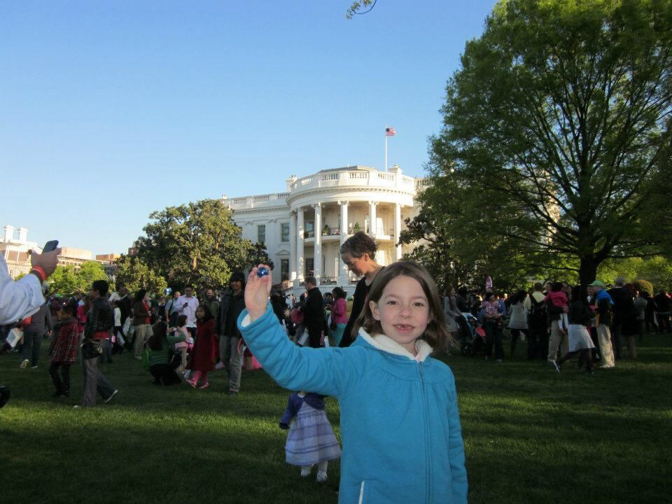 The Blue Marbles Project: Claire at the White House Easter Egg Roll (2012)