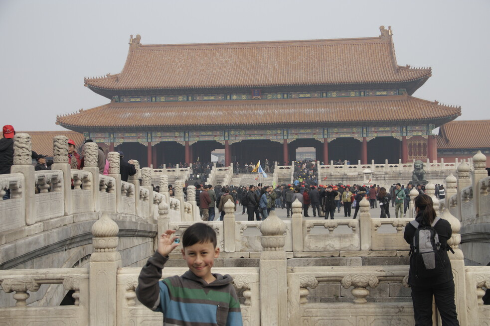 The Blue Marbles Project: Samuel in The Forbidden City, Beijing, China (2013)