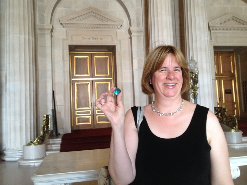 Arts Education Advocate Ruth Nott receives one blue marble.