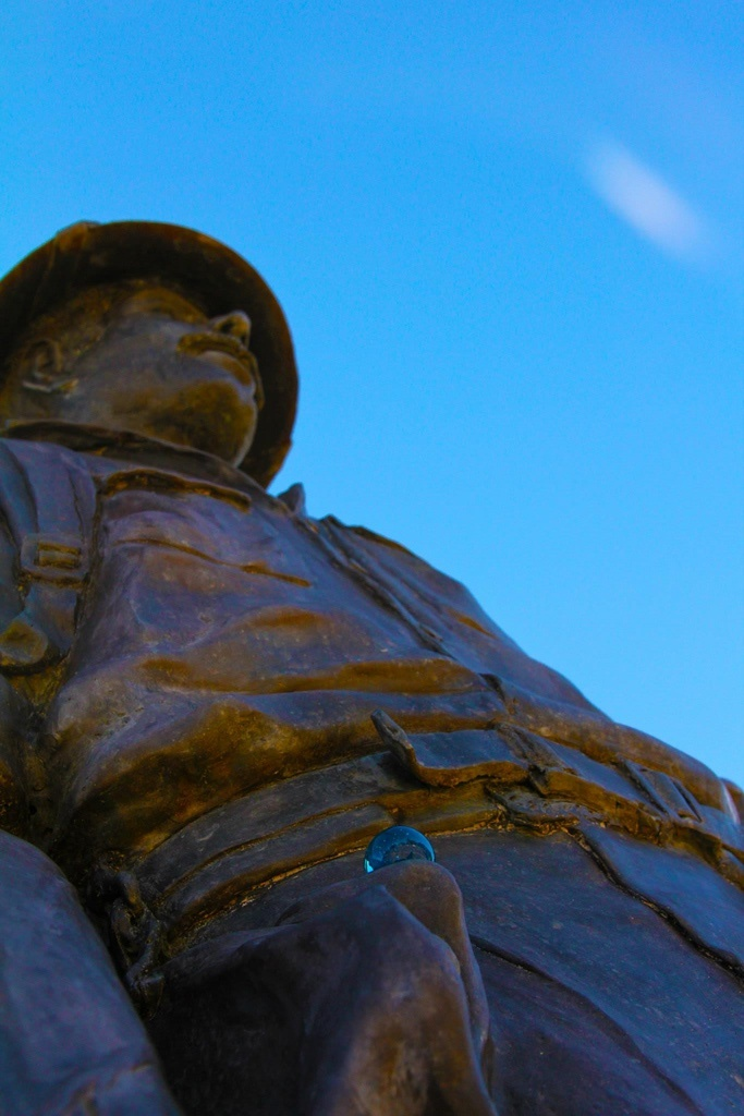 Zane Grey Statue with the Blue Marbles Game
