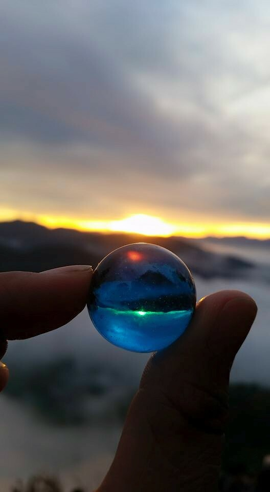 The Caba Family & Blue Marble at Sunrise on Kiltepan View