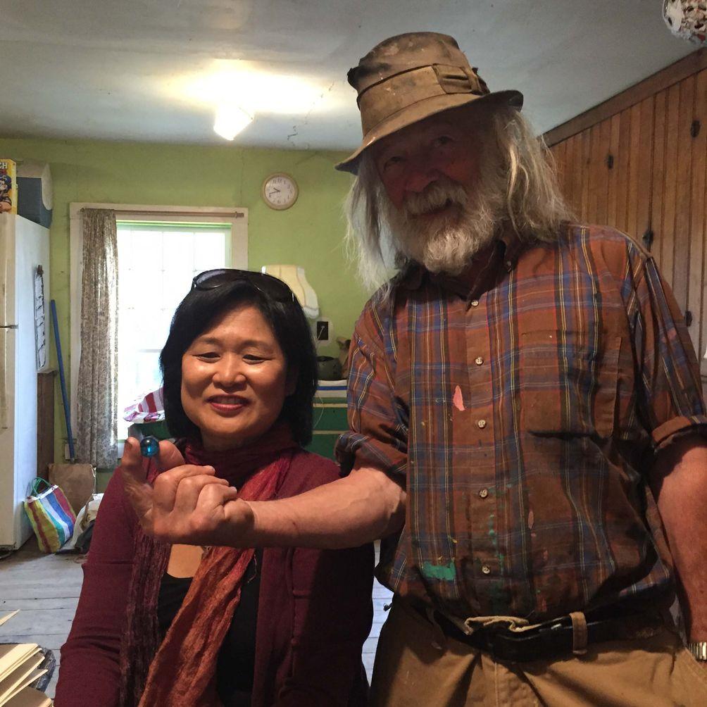 Wendy Hanamura and Peter Schumann