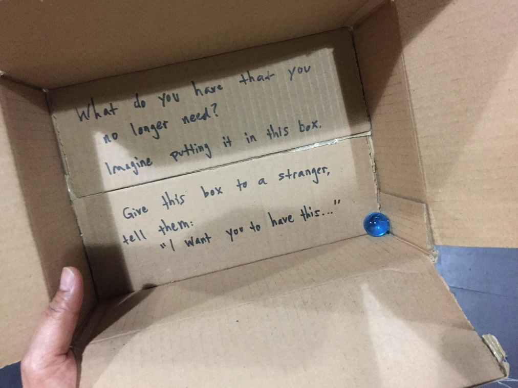 Just a blue marble in a cardboard box( 2015)
