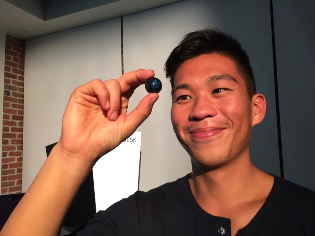 Entrepeneur/Scientist/Designer Sly Lee receives one blue marble.