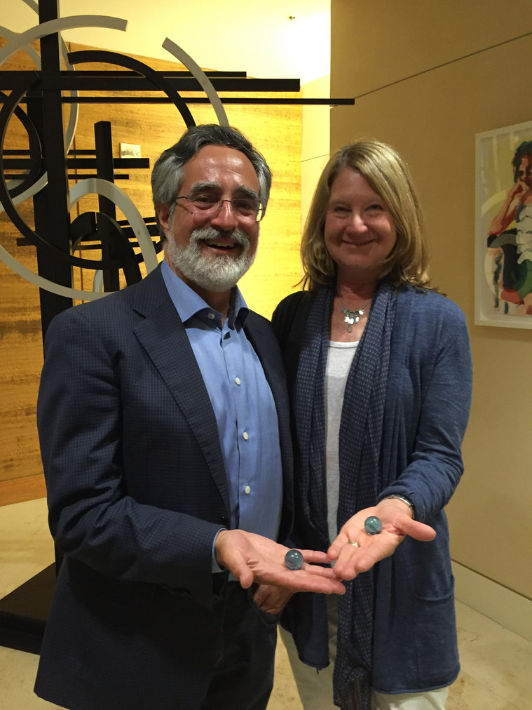 The Blue Marbles Project: Aaron Peskin and Nancy Shanahan (2016)