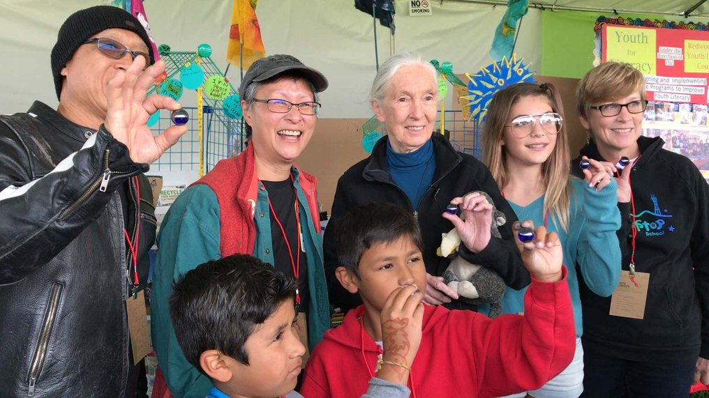 The Blue Marbles Project: Jane Goodall & Roots & Shoots (2017)